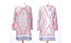 Tunic Coton Imprime/Sequins Collier Paillett