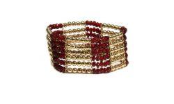 Bracelet elastique Rouge Doré