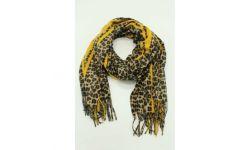 Etole polyester léopard/ligne vive