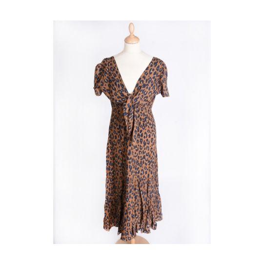 Echarpe polyester léopard scintillant