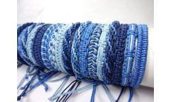 Tube 60 Bracelets Tisses Coton Cire