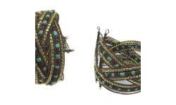 Bracelet Semi-Rigide Tresse Perles