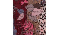 Carre Polyester Savane Milieu Leopard