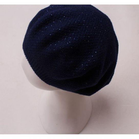 Beret Acrylique Tricote Strasse Bleu foncé