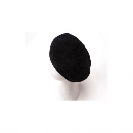 Berret Polyester Uni Effet Tricot Noir