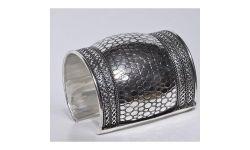 Bracelet Manchette Metal Argenté