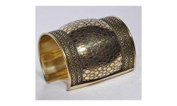Bracelet Manchette Metal Doré