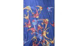 Etole/Pareos Poissons Tropicaux Brode Bleu foncé