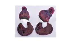 Set Snood Et Bonnet Acryl Rainbow Multi foncé