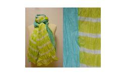Chech/Pareo Coton Imprime Rayures/Bande