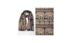 Pareo Coton Imp.Elephants