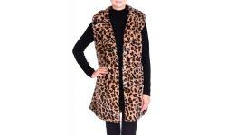Gilet Sans Manche Imitation Leopard