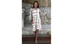 Robe tunique col chemise 3 boutons